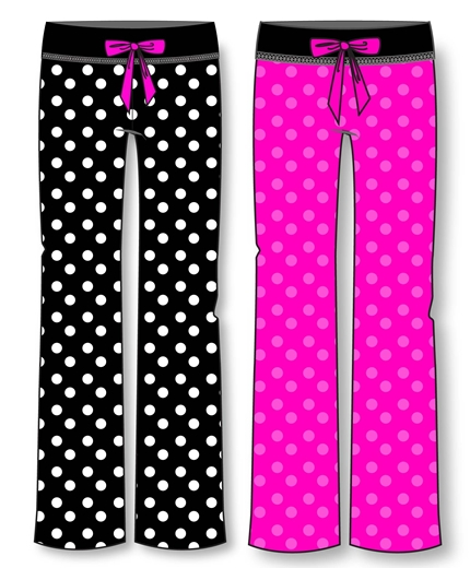 Wholesale Dots Print Plush Pajama Pants