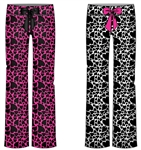 Wholesale Leopard Hearts printed Plush Pajama Pants