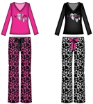 Wholesale Hearts Print Plush Pajama set