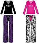 Wholesale Tiger Print Plush Pajama set