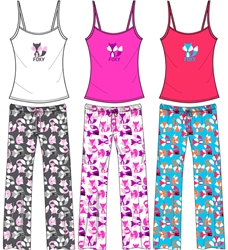 Wholesale Foxy Cami and Capri PJ Set