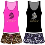 Wholesale Cheetah Tank & Short PJ Set