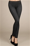 Wholesale Embroidered jeggings with rivet detail