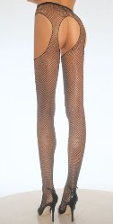 Plus size Fishnet suspender pantyhose