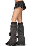 Wholesale Woven Lurex bellbottom leg warmers