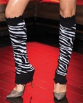 Wholesale Zebra print lurex leg warmers