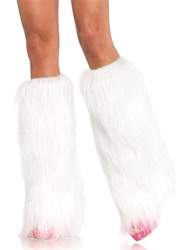 Wholesale Furry Lurex leg warmers