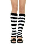 Wholesale Fuzzy striped leg warmers