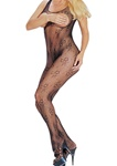 Open bust lace bodystocking with open crotch