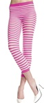 Opaque stripes capri leggings
