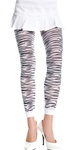 Opaque zebra print leggings
