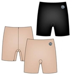 Wholesale Plus size laser cut microfiber shaping shorts