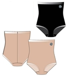 Wholesale Laser cut microfiber high waist shaping brief