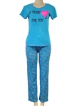 Wholesale cotton pajama set - My heart is for you