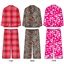 Wholesale Micro fleece long sleeve pajama set with lurex thread details