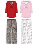"Wholesale 100% Cotton 3/4"" sleeve PJ set"