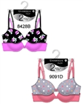 Poly Spandex Plus size Bras - 2 PCs on a hanger