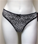 Wholesale Zebra printed cotton spandex thong