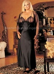 Wholesale Plus Size Charmeuse & Net long gown