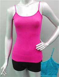 Wholesale Cotton spandex Camisole top with built in bra