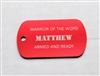 Matthew Warrior of the Word Dog Tag
