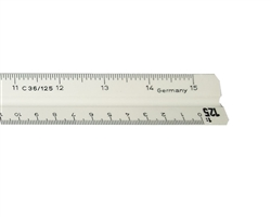 "Architects Hi Impact Scholastic 12"" Triangular Scale (Imperial),Architects Hi Impact Scholastic 12"" Triangular Scale,C36A, 987-19-31,Architects Hi Impact Scholastic 12"" Triangular Scale,Alvin Scholastic Triangular Scales,STAEDTLER 987-19-3,C36A"
