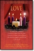 Pkg./100 Love Advent Christmas Bulletins.  Save 20%.