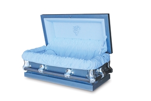 33.5 Youth Blue - 20 Gauge Gasketed Casket