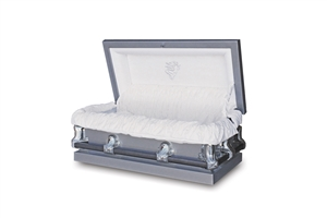 33.5 Youth Silver - 20 Gauge Gasketed Casket