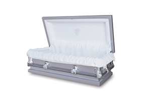 46 Youth Silver - 20 Gauge Gasketed Casket