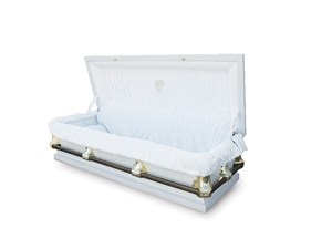 56 Youth White - 20 Gauge Gasketed Casket
