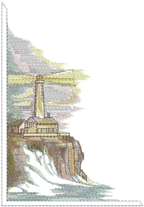 Lighthouse Corner Image Head Panel Insert