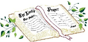 Lord's Prayer Bible Head Panel Insert