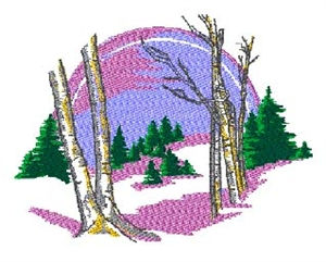 Snow Scene Head Panel Insert