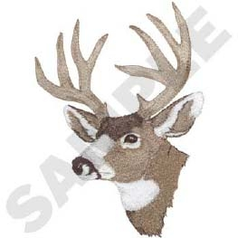 Mule Deer Bust- Gray Head Panel Insert