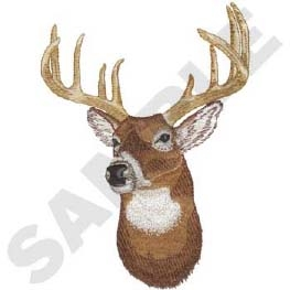 Whitetail Deer Head Panel Insert
