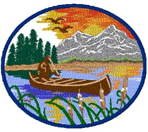 Canoe Scene Head Panel Insert