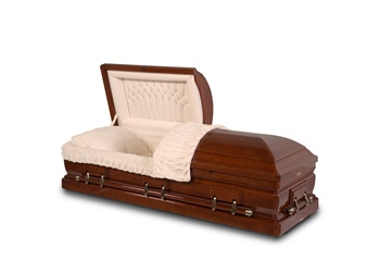 Executive Solid Cherry Hardwood Casket