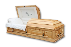 Roanoke - Solid Natural Cedar Casket