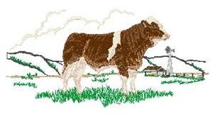 Simmental Bull Scene Head Panel Insert