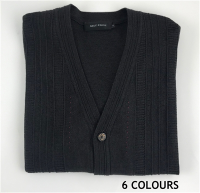 01-9192 GILT EDGE Wool Acrylic Cardigan