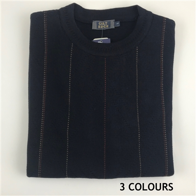 GILT EDGE Wool Acrylic Crew Neck
