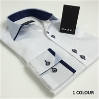 03-9161 ZAZZI Boys White Contrast Shirt