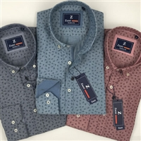 ZAZZI Patterned Casual Shirt With Contrasts