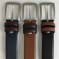 LEATHER BELT WITH CONTRASTS