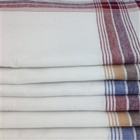 120 Pack White Handkerchiefs With Colour Border 120PK-COLOUR-BORDER