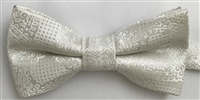 1700 Ivory Paisley Wedding Boy's Bow