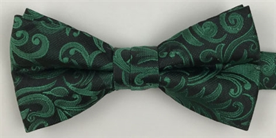 1998 Charcoal Floral Wedding Boy's Bow