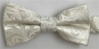 1998 Ivory Floral Wedding Boy's Bow