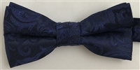 1998 Navy Floral Wedding Boy's Bow